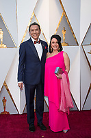 Presenter Wes Studi and guest arrive for the live ABC Telecast of The 90th Oscars&reg; at the Dolby&reg; Theatre in Hollywood, CA on Sunday, March 4, 2018.<br /> *Editorial Use Only*<br /> CAP/PLF/AMPAS<br /> Supplied by Capital Pictures