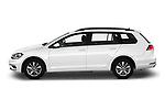 Car driver side profile view of a 2019 Volkswagen Golf SportWagen S 5 Door Wagon