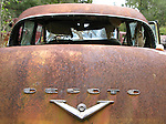 A rusted Desoto rest among the rusted trucks along the roadside on US 319 in Wakulla County south of Crawfordville, Florida September 21, 2008.  (Mark Wallheiser/TallahasseeStock.com)