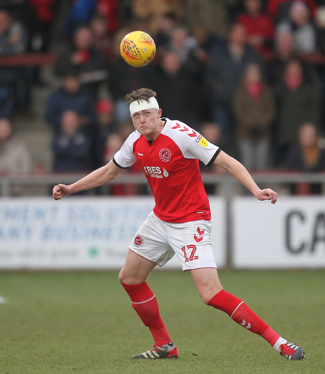 Fleetwood Town's Harry Souttar<br /> <br /> Photographer Mick Walker/CameraSport<br /> <br /> The EFL Sky Bet League One - Fleetwood Town v Luton Town - Saturday 16th February 2019 - Highbury Stadium - Fleetwood<br /> <br /> World Copyright © 2019 CameraSport. All rights reserved. 43 Linden Ave. Countesthorpe. Leicester. England. LE8 5PG - Tel: +44 (0) 116 277 4147 - admin@camerasport.com - www.camerasport.com