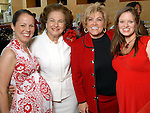 Jenny Moore, Joanne Crassas, Edna Myer Nelson and Colleen Haddad at the American Heart Association Go Red for Women luncheon at the InterContinental Houston Monday May 04,2009.  (Dave Rossman/For the Chronicle)