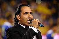 Ecuador national anthem singer. The men's national team of the United States (USA) was defeated by Ecuador (ECU) 1-0 during an international friendly at Red Bull Arena in Harrison, NJ, on October 11, 2011.