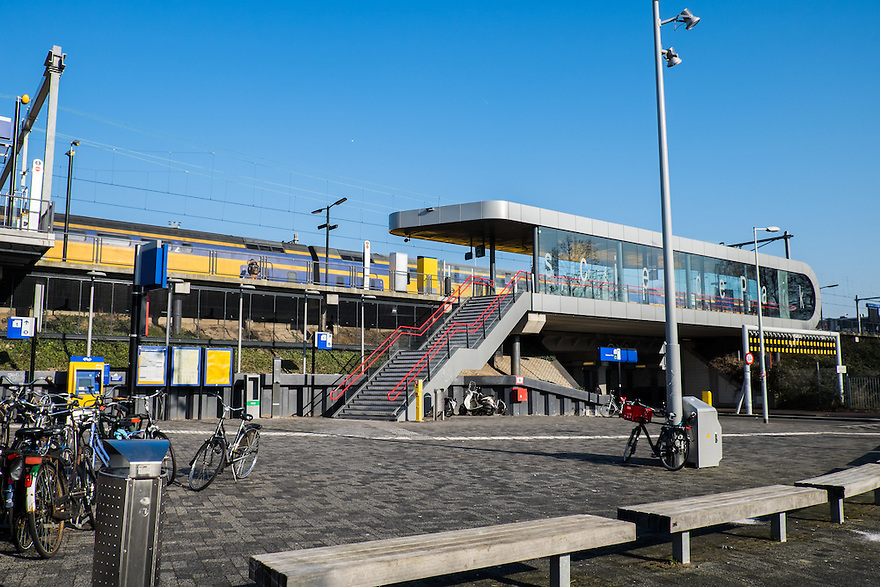 Nederland, Amsterdam, 13 feb 2015<br /> NS Station Amsterdam Science Park. <br /> Foto: (c) Michiel Wijnbergh
