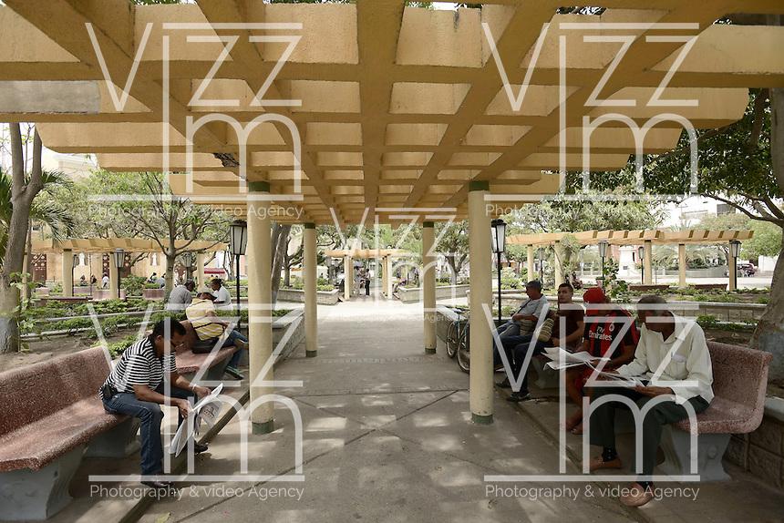 RIOHACHA -COLOMBIA. 30-05-2014. Parque Padilla en el centro de Riohacha capital del Departamento de la Guajira, Colombia. / Padilla park at down town of Riohacha capital of the deparment of Guajira, Colombia. Photo: VizzorImage/ Gabriel Aponte / Staff