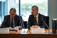 Am 28. April 2016 fand die 16. Sitzung des 2. NSU-Untersuchungsausschusses des Deutschen Bundestag statt. <br /> Als Zeugen waren gelanden:<br /> Dr. Tilmann Halder Diplom-Chemiker (Brandgutachter vom LKA-BW),  Kriminaloberkommissar Manfred Nordgauer (LKA Stuttgart) und Diplom-Physikerin Sandra Kruse (Bundeskriminalamt - Kriminaltechnisches Institut (KT52))<br /> Im Bild: Armin Schuster, Ausschuss-Obmann der CDU und Clemens Binninger Ausschussvorsitzender, CDU.<br /> 28.4.2016, Berlin<br /> Copyright: Christian-Ditsch.de<br /> [Inhaltsveraendernde Manipulation des Fotos nur nach ausdruecklicher Genehmigung des Fotografen. Vereinbarungen ueber Abtretung von Persoenlichkeitsrechten/Model Release der abgebildeten Person/Personen liegen nicht vor. NO MODEL RELEASE! Nur fuer Redaktionelle Zwecke. Don't publish without copyright Christian-Ditsch.de, Veroeffentlichung nur mit Fotografennennung, sowie gegen Honorar, MwSt. und Beleg. Konto: I N G - D i B a, IBAN DE58500105175400192269, BIC INGDDEFFXXX, Kontakt: post@christian-ditsch.de<br /> Bei der Bearbeitung der Dateiinformationen darf die Urheberkennzeichnung in den EXIF- und  IPTC-Daten nicht entfernt werden, diese sind in digitalen Medien nach §95c UrhG rechtlich geschuetzt. Der Urhebervermerk wird gemaess §13 UrhG verlangt.]