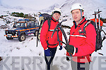 John Cronin and Damien Courtney, members of Kerry Mountain Rescue, who have issued a warning to all climbers to stay away from the mountains during the cold spell unless they have the proper equipment.