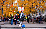 UNITED STATES, NEW YORK,  November 19, 2011..Protesters affiliated with the Occupy Wall Street movement take part of a protest in New York November 19, 2011. VIEWpress /Kena Betancur..A well-known Washington lobbying firm with links to the financial industry has proposed an $850,000 plan to take on Occupy Wall Street and politicians who might express sympathy for the protests, according to a memo obtained by the MSNBC program.Local media report..