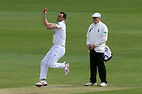 Kyle Abbott in bowling action for Hampshire during Essex CCC vs Hampshire CCC, Specsavers County Championship Division 1 Cricket at The Cloudfm County Ground on 19th May 2017
