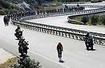 The peloton in action during Stage 4 of the 54th Presidential Tour of Turkey 2018, running 206.9km from Marmaris to Sel&ccedil;uk, Turkey. 12th October 2018.<br /> Picture: Brian Hodes/VeloImages | Cyclefile<br /> <br /> <br /> All photos usage must carry mandatory copyright credit (&copy; Cyclefile | Brian Hodes/VeloImages)