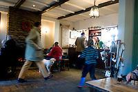 The Queens Arms pub after a walk to Corton Denham,  Somerset, England with Lucas, Felix, Annuska, Mum (Sarah) and Dad (John) Wiseman.