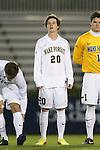 25 October 2013: Wake Forest's Hunter Bandy. The Duke University Blue Devils hosted the Wake Forest University Demon Deacons at Koskinen Stadium in Durham, NC in a 2013 NCAA Division I Men's Soccer match. The game ended in a 2-2 tie after two overtimes.