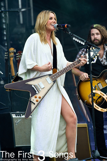 Grace Potter of Grace Potter and the Nocturnals performs during the All Good Music Festival at Legend Valley in Thornville, Ohio.
