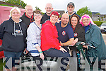 Fiona Joyce Hampson, formally Killarney, now living in Manchester, England, centre, pictured with her friends Tracey Brett, Tez Broughton, Tracey Broughton, George Broughton, Tracey Goodfellow, Neil Banes, Andrew Lee and Stephen Goodfellow at the Lambretta weekend in Killarney..