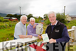 "Michael Whitehouse is republishing his fathers book ""The Tralee and Dingle Railway"" which was written by his father Patrick B Whitehouse, pictured here with Billy Nolan and Michael O'Donnell, local historians."