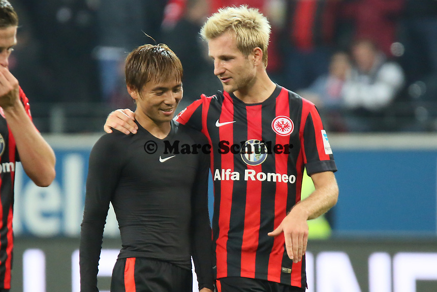Takashi Inui und Stefan Aigner (Eintracht) - Eintracht Frankfurt vs. 1. FSV Mainz 05, Commerzbank Arena
