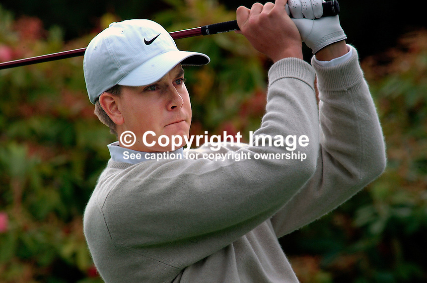 Henrik Stenson, professional golfer, Sweden. Picture taken during practice for the Smurfit European Golf Champsionship at the K Club, Co Kildare, Rep of Ireland. Ref: 200207025565...Copyright Image from Victor Patterson, 54 Dorchester Park, Belfast, UK, BT9 6RJ..Tel: +44 28 9066 1296.Mob: +44 7802 353836.Voicemail +44 20 8816 7153.Skype: victorpattersonbelfast.Email: victorpatterson@mac.com.Email: victorpatterson@ireland.com (back-up)..IMPORTANT: If you wish to use this image or any other of my images please go to www.victorpatterson.com and click on the Terms & Conditions. Then contact me by email or phone with the reference number(s) of the image(s) concerned.