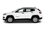 Car driver side profile view of a 2018 Jeep Compass Sport 5 Door SUV