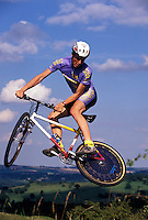 Dave Hemming riding Chas Roberts bike <br /> Team MBUK 1991<br /> pic copyright Steve Behr / Stockfile