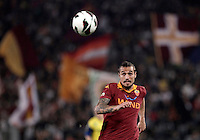 Calcio, Serie A: Roma vs Chievo Verona, Stadio Olimpico, , 7 maggio  2013..AS Roma forward Pablo Daniel Osvaldo eyes the ball during the Italian serie A football match between Roma and ChievoVerona at Rome's Olympic stadium, 7 maggio  2013..UPDATE IMAGES PRESS/Isabella Bonotto
