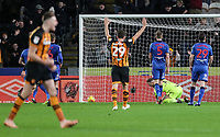 Bolton Wanderers' concede another goal to Hull City<br /> <br /> Photographer Andrew Kearns/CameraSport<br /> <br /> The EFL Sky Bet Championship - Hull City v Bolton Wanderers - Tuesday 1st January 2019 - KC Stadium - Hull<br /> <br /> World Copyright © 2019 CameraSport. All rights reserved. 43 Linden Ave. Countesthorpe. Leicester. England. LE8 5PG - Tel: +44 (0) 116 277 4147 - admin@camerasport.com - www.camerasport.com