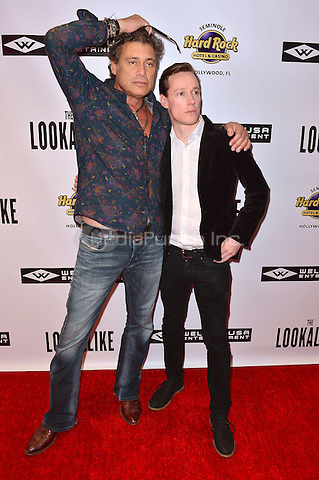 HOLLYWOOD, FL - OCTOBER 29: Steven Bauer and Kaine Harling attends The Lookalike premiere at Hard Rock Live! in the Seminole Hard Rock Hotel & Casino on October 29, 2014 in Hollywood, Florida. Credit: MPI10 / MediaPunch