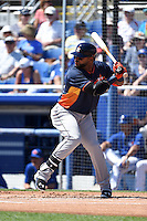 Houston Astros infielder Jonathan Villar (2) during a Spring Training game against the Toronto Blue Jays on March 9, 2015 at Florida Auto Exchange Stadium in Dunedin, Florida.  Houston defeated Toronto 1-0.  (Mike Janes/Four Seam Images)