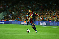 02.09.2012 SPAIN -  La Liga 12/13 Matchday 3th  match played between F.C. Barcelona vs Valencia C.F. (1-0) at Nou Camp stadium. The picture show Alexis Alejandro Sanchez (Chilean forward of Barcelona)
