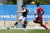 Scotland's Oliver Burke takes a shot at the Czech Republic goal during Czech Republic Under-20 vs Scotland Under-20, Toulon Tournament Football at Stade de Lattre-de-Tassigny on 10th June 2017