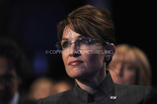 WWW.ACEPIXS.COM . . . . . ....September 25 2008, New York City....Republican vice-presidential nominee and Governor of Alsaka Sarah Palin sits in the audience at the Clinton Global Initiative meeting on September 25 2008 in New York City ....Please byline: KRISTIN CALLAHAN - ACEPIXS.COM.. . . . . . ..Ace Pictures, Inc:  ..(646) 769 0430..e-mail: info@acepixs.com..web: http://www.acepixs.com