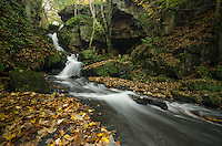 Water Flowing Over Bare Rock at Lumsdale