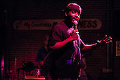 April 9, 2012. Raleigh, NC.. Matt White.. A stand up comedy event was held at Tir Na Nog with a sparse audience.