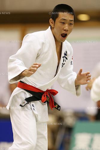 Wataru Umekita,<br /> September 13, 2014 - Judo : <br /> All Japan Juior Judo Championships <br /> Men's -55kg Final<br /> at Saitama Kenritsu Budokan, Saitama, Japan. <br /> (Photo by Shingo Ito/AFLO SPORT) [1195]