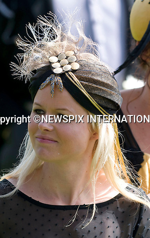 "HAT FASHIONS.on the first day of Royal Ascot 2010_15/06/2010.Mandatory Photo Credit: ©Dias/Newspix International..**ALL FEES PAYABLE TO: ""NEWSPIX INTERNATIONAL""**..PHOTO CREDIT MANDATORY!!: NEWSPIX INTERNATIONAL(Failure to credit will incur a surcharge of 100% of reproduction fees)..IMMEDIATE CONFIRMATION OF USAGE REQUIRED:.Newspix International, 31 Chinnery Hill, Bishop's Stortford, ENGLAND CM23 3PS.Tel:+441279 324672  ; Fax: +441279656877.Mobile:  0777568 1153.e-mail: info@newspixinternational.co.uk"