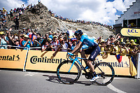 Mikel Landa (ESP/Movistar) finishing 6th place on top the Tourmalet.<br /> <br /> Stage 14: Tarbes to Tourmalet (117km)<br /> 106th Tour de France 2019 (2.UWT)<br /> <br /> ©kramon