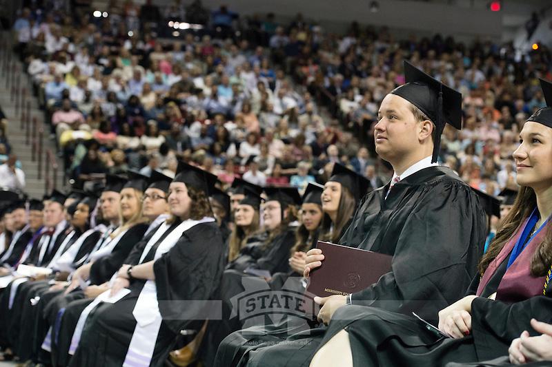 Spring 2016 MSU Graduation at Humphrey Coliseum, Saturday ceremony - ACCESS Program graduate Daniel Mooney.<br />  (photo by Megan Bean / &copy; Mississippi State University)