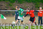 Cathal Moriarty Milltown/Castlemaine goes past Brian Murphy Clondegad in the quarter final of the Munster Intermediate Club championship at Milltown on Sunday