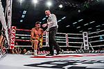 Emre Cukur am Boden /  Emre Cukur (GER) vs. Davide Faraci (ITA) - Super middleweight ; Boxen: ECB ECBOXING am 09.02.2020 in Goeppingen (EWS Arena), Baden-Wuerttemberg, Deutschland.<br /> <br /> Foto © PIX-Sportfotos *** Foto ist honorarpflichtig! *** Auf Anfrage in hoeherer Qualitaet/Aufloesung. Belegexemplar erbeten. Veroeffentlichung ausschliesslich fuer journalistisch-publizistische Zwecke. For editorial use only.
