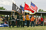 Native American color guard.