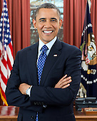 United States President Barack Obama is photographed during a presidential portrait sitting for an official photo in the Oval Office of the White House in Washington, D.C., December 6, 2012. .Mandatory Credit: Pete Souza - White House via CNP