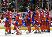 Sergei Korostin (Russia - 23), Danila Alistratov (Russia - 20), Vasili Tokranov (Russia - 8), Dmitri Klopov (Russia - 9), Mikhail Pashnin (Russia - 6), Nikita Filatov (Russia - 28) - Russia defeated the Czech Republic 5-1 on Friday, January 2, 2009, at Scotiabank Place in Kanata (Ottawa), Ontario, during the 2009 World Junior Championship.