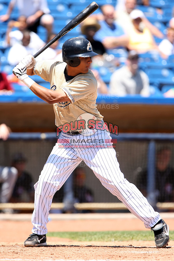 July 10th 2008:  Ron Rivas of the Lake County Captains, Class-A affiliate of the Cleveland Indians, during a a game at Classic Park in Eastlake, OH.  Photo by:  Mike Janes/Four Seam Images