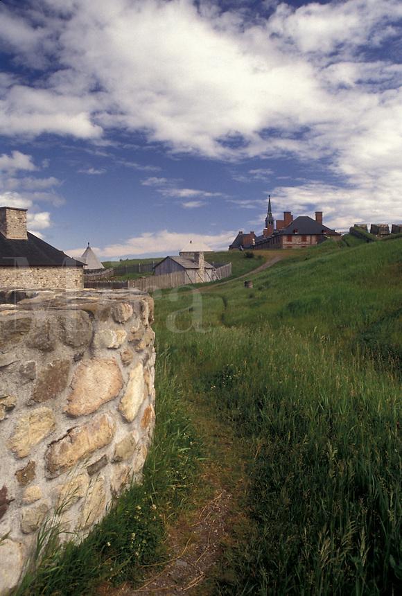 fortress, Cape Breton, Nova Scotia, fort, NS, Canada, Atlantic Ocean, Fortress of Louisbourg National Historic Site on Cape Breton Island in Nova Scotia.