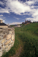 fortress, Cape Breton, Nova Scotia, fort, NS, Canada, Atlantic Ocean, Fortress of Louisbourg National Historic Site on Cape Breton Island in Nova Scotia.
