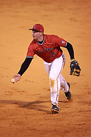 Ball State Cardinals first baseman Caleb Stayton (34) during a game against the Wisconsin-Milwaukee Panthers on February 26, 2016 at Chain of Lakes Stadium in Winter Haven, Florida.  Ball State defeated Wisconsin-Milwaukee 11-5.  (Mike Janes/Four Seam Images)