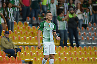MEDELLIN-COLOMBIA- 16-04-2017. Mateus Uribe  jugador del Atlético Nacional celebra su gol contra el  Envigado.Acción de juego entre el  Atlético Nacional y   Envigado durante encuentro  por la fecha 13 de la Liga Aguila I 2017 disputado en el estadio Atanasio Girardot./  Mateus Uribe  player of Atletico Nacional celebrates his goal agaisnt of Envigado. Action game between  Atletico Nacional and  Envigado match date 13 for the League  I 2017 played at Atanasio Girardot stadium . Photo:VizzorImage / León Monsalve / Contribuidor