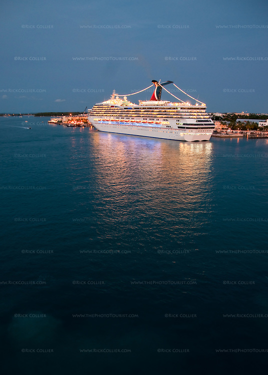 The Carnival Triumph is docked alongside Duval Pier in Key West, Florida, USA.