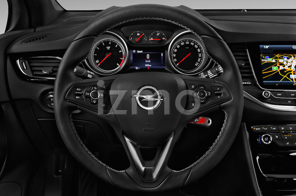 Car pictures of steering wheel view of a 2016 Opel Astra Dynamic 4 Door Hatchback Steering Wheel