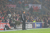 Wales manager Chris Coleman during the International Friendly match between Wales and Northern Ireland at Cardiff City Stadium, Cardiff, Wales on 24 March 2016. Photo by Mark  Hawkins / PRiME Media Images.