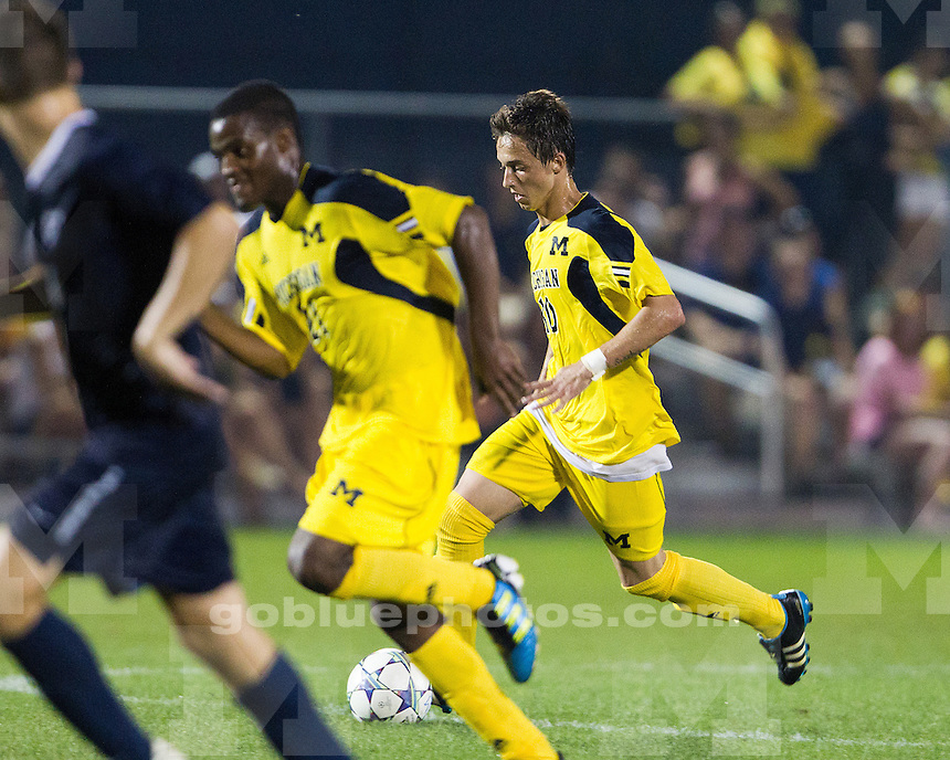 The University of Michigan men's soccer team falls to Butler, 2-1, at the U-M Soccer Stadium in Ann Arbor, Mich., on September 2, 2011.