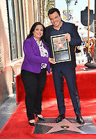 LOS ANGELES, USA. April 23, 2019: Seth MacFarlane & Rana Ghadban at the Hollywood Walk of Fame Star Ceremony honoring actor, animator and comedian Seth MacFarlane.<br /> Picture: Paul Smith/Featureflash